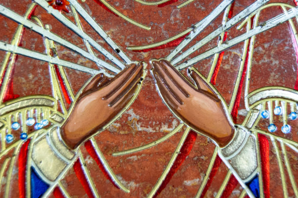 Икона Семистрельная № 4-12 из камня, от Гливи, фото 12