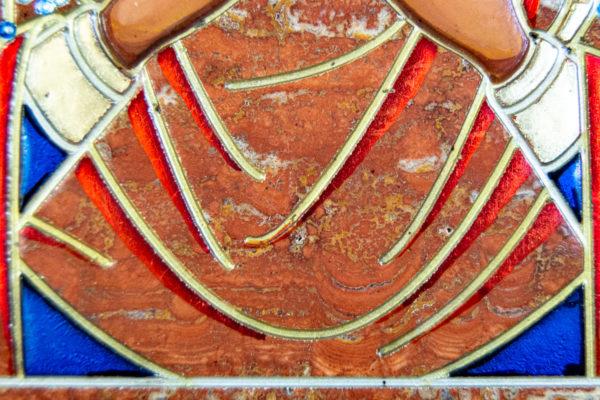 Икона Семистрельная № 4-12 из камня, от Гливи, фото 13