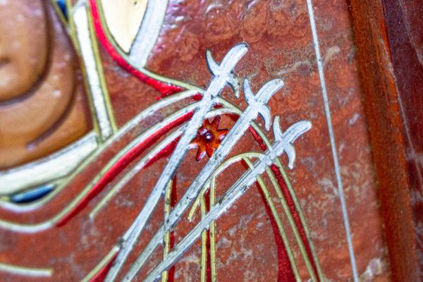 Икона Семистрельная № 4-12 из камня, от Гливи, фото 4