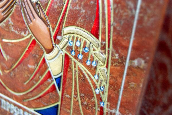 Икона Семистрельная № 4-12 из камня, от Гливи, фото 7