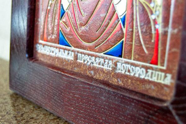 Икона Семистрельная № 4-12 из камня, от Гливи, фото 3