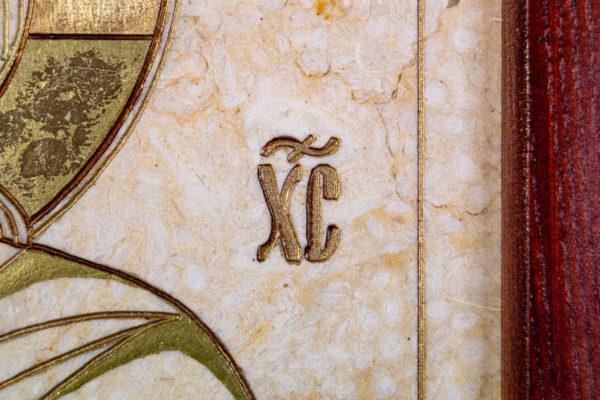 Икона Господа Вседержителя № 3-07 (Пантократор) из камня, Гливи, фото 3