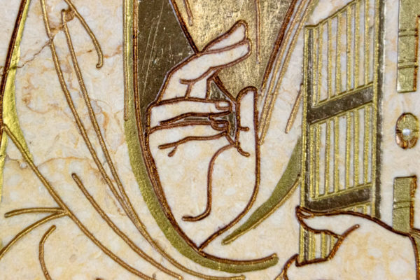 Икона Господа Вседержителя № 3-07 (Пантократор) из камня, Гливи, фото 4