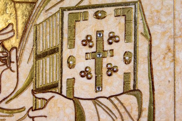 Икона Господа Вседержителя № 3-07 (Пантократор) из камня, Гливи, фото 5