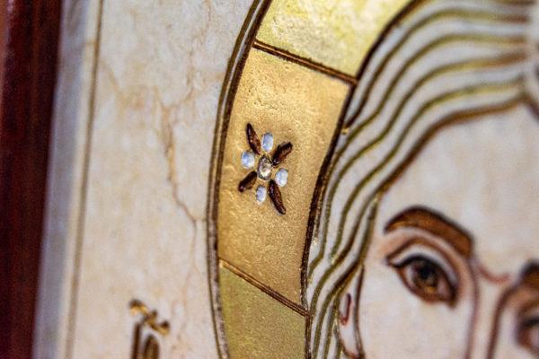 Икона Господа Вседержителя № 3-07 (Пантократор) из камня, Гливи, фото 12