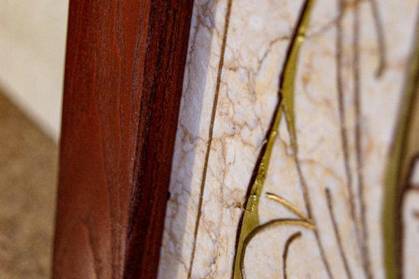 Икона Господа Вседержителя № 3-07 (Пантократор) из камня, Гливи, фото 13