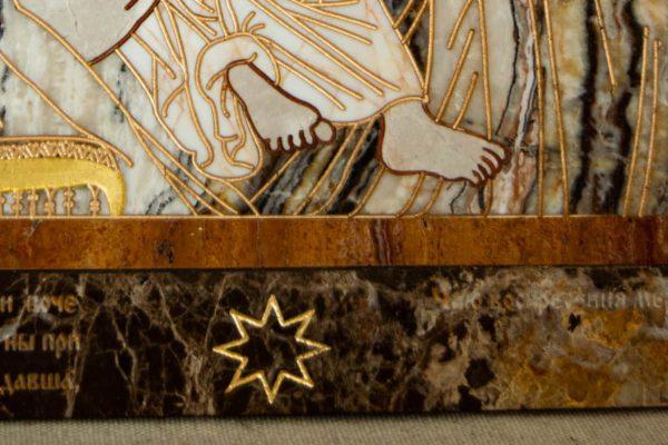Икона Владимирской Божией Матери № 2-12-10 из мрамора, камня, от Гливи, фото 7