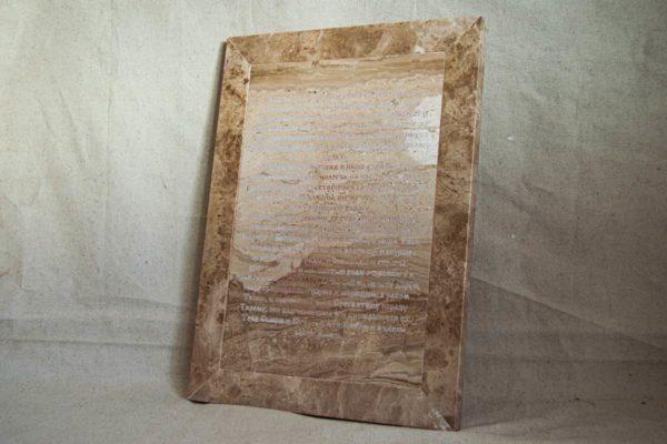 Икона Владимирской Божией Матери № 2-12-9 из мрамора, камня, от Гливи, фото 2