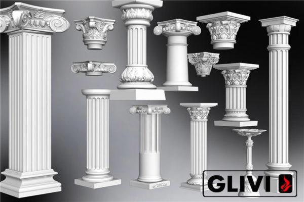 Пример колонн из натурального камня (гранита) от Гливи, фото 1