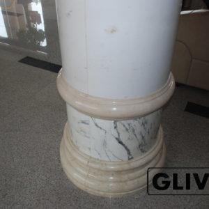Колонна из натурального камня (мрамора) Матильда, фото 1