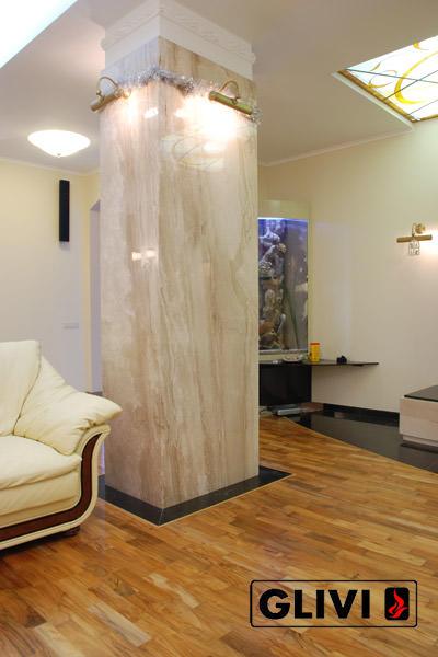 Колонна из натурального камня (мрамора) Джасинта, фото 1