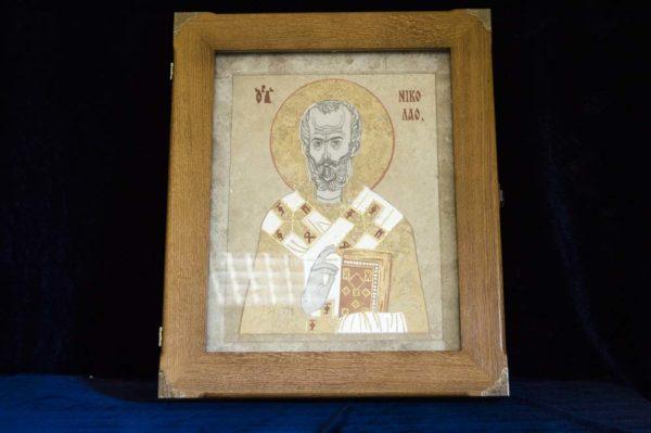 Икона Николая Чудотворца (Угодника) инд.№ 02 из мрамора, камня, изображение, фото 9