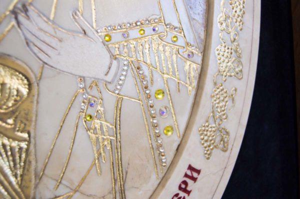 Икона Жировицкой (Жировичской) Божией Матери № п-2 из мрамора, камня, изображение, фото 12
