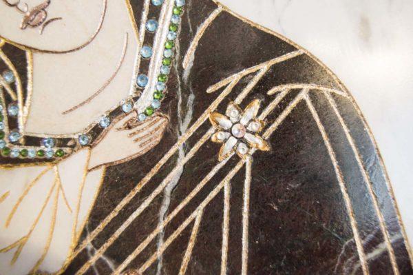 Икона Жировицкой (Жировичской) Божией Матери № п-3 из мрамора, камня, изображение, фото 2