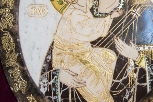 Икона Жировицкой (Жировичской) Божией Матери № п-3 из мрамора, камня, изображение, фото 12
