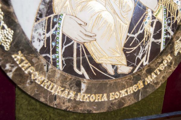 Икона Жировицкой (Жировичской) Божией Матери № п-3 из мрамора, камня, изображение, фото 8