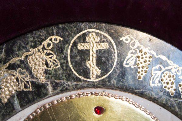 Икона Жировицкой (Жировичской) Божией Матери № п-6 из мрамора, камня, изображение, фото 1