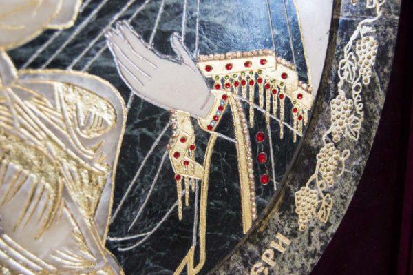 Икона Жировицкой (Жировичской) Божией Матери № п-6 из мрамора, камня, изображение, фото 7