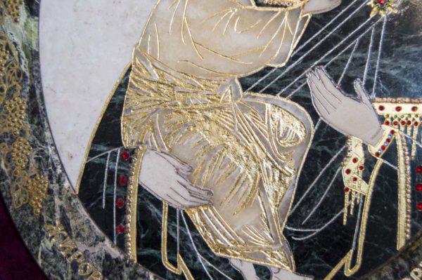 Икона Жировицкой (Жировичской) Божией Матери № п-6 из мрамора, камня, изображение, фото 8