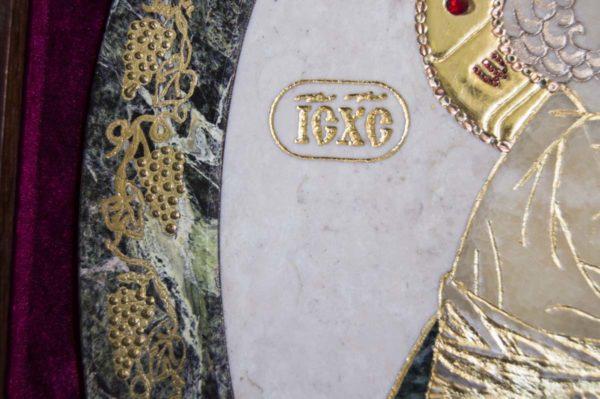 Икона Жировицкой (Жировичской) Божией Матери № п-6 из мрамора, камня, изображение, фото 2