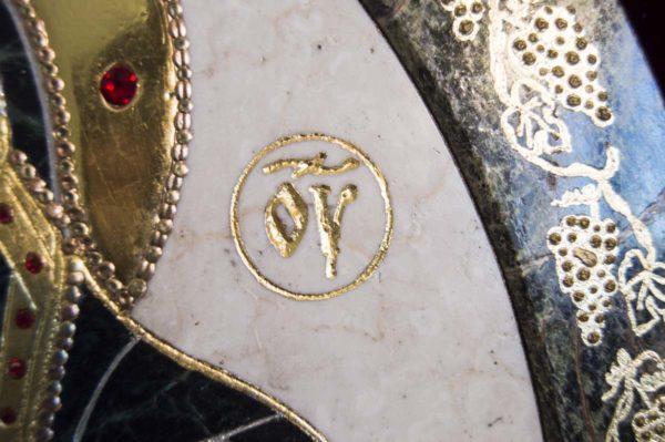 Икона Жировицкой (Жировичской) Божией Матери № п-6 из мрамора, камня, изображение, фото 4