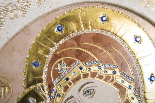 Икона Жировицкой (Жировичской) Божией Матери № п-7 из мрамора, камня, изображение, фото 11