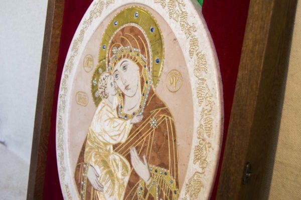 Икона Жировицкой (Жировичской) Божией Матери № п-7 из мрамора, камня, изображение, фото 3