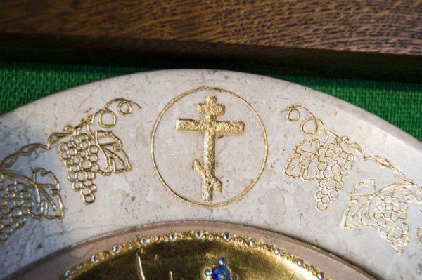 Икона Жировицкой (Жировичской) Божией Матери № п-7 из мрамора, камня, изображение, фото 5