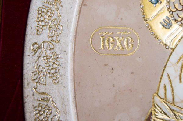 Икона Жировицкой (Жировичской) Божией Матери № п-7 из мрамора, камня, изображение, фото 12