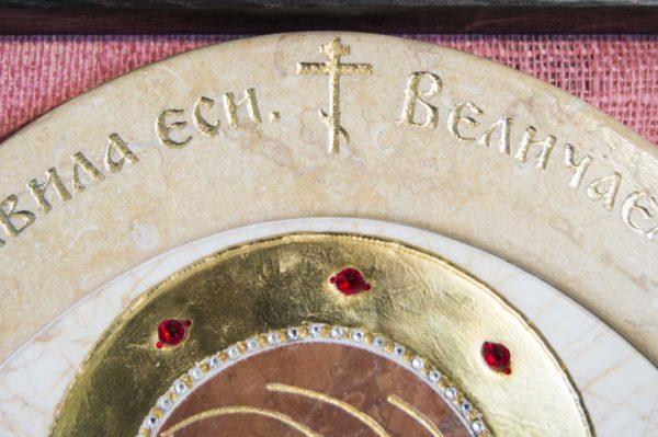 Икона Жировицкой (Жировичской) Божией Матери № п-8 из мрамора, камня, изображение, фото 10