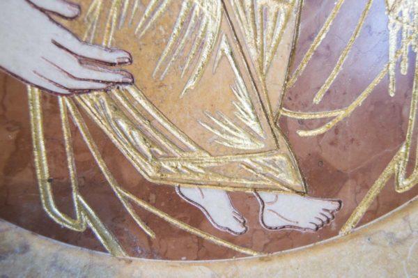 Икона Жировицкой (Жировичской) Божией Матери № п-8 из мрамора, камня, изображение, фото 4