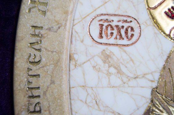 Икона Жировицкой (Жировичской) Божией Матери № п-8 из мрамора, камня, изображение, фото 8