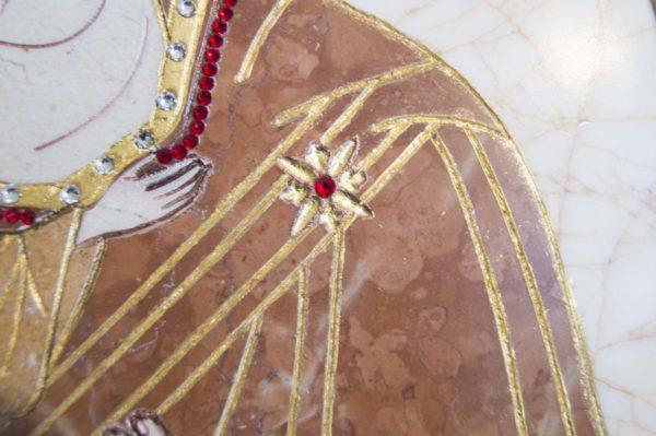 Икона Жировицкой (Жировичской) Божией Матери № п-8 из мрамора, камня, изображение, фото 1