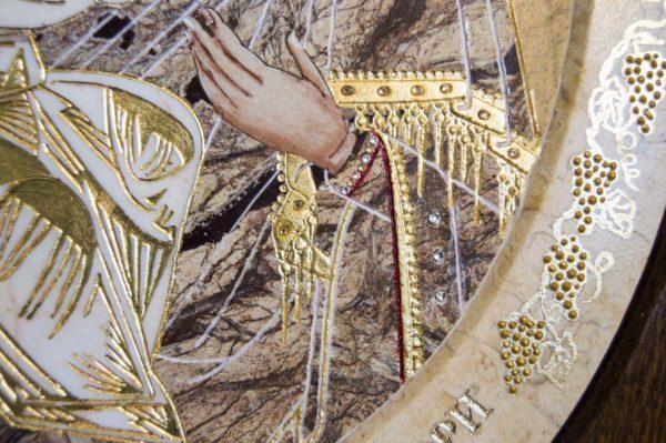 Икона Жировицкой (Жировичской) Божией Матери № п-11 из мрамора, камня, изображение, фото 10