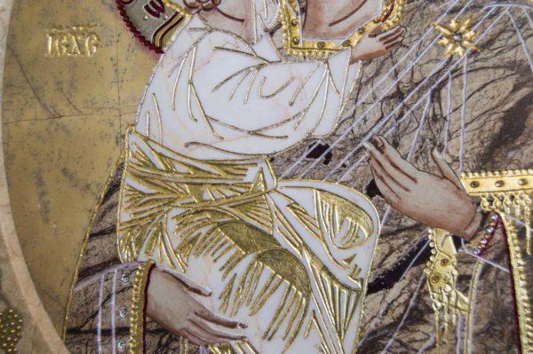 Икона Жировицкой (Жировичской) Божией Матери № п-11 из мрамора, камня, изображение, фото 9