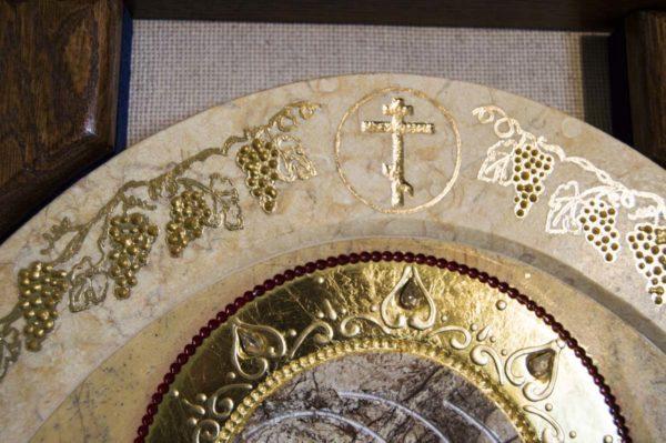 Икона Жировицкой (Жировичской) Божией Матери № п-11 из мрамора, камня, изображение, фото 6