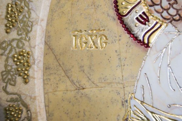 Икона Жировицкой (Жировичской) Божией Матери № п-11 из мрамора, камня, изображение, фото 4