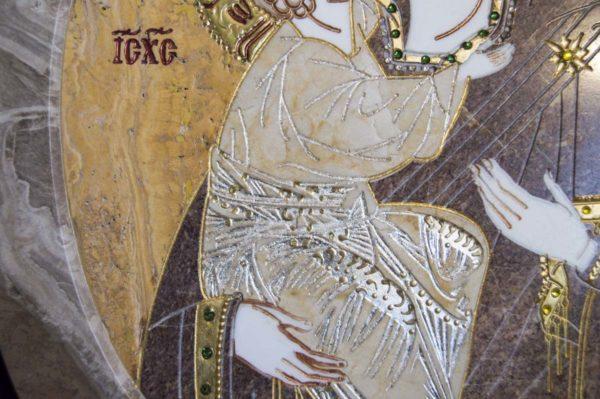 Икона Жировицкой (Жировичской) Божией Матери № п-16 из мрамора, камня, изображение, фото 3