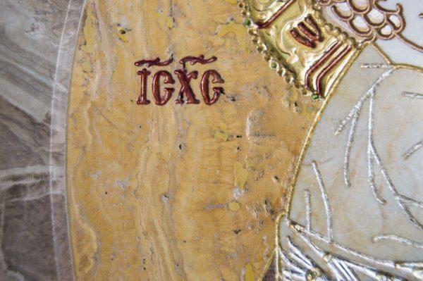 Икона Жировицкой (Жировичской) Божией Матери № п-16 из мрамора, камня, изображение, фото 7