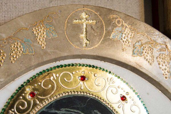 Икона Жировицкой (Жировичской) Божией Матери № п-17 из мрамора, камня, изображение, фото 6