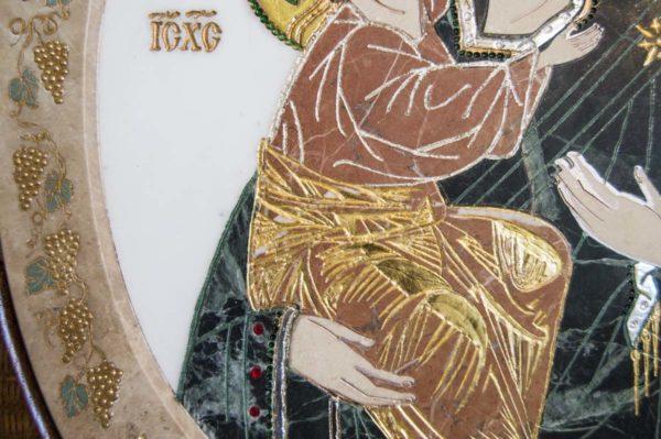 Икона Жировицкой (Жировичской) Божией Матери № п-17 из мрамора, камня, изображение, фото 3