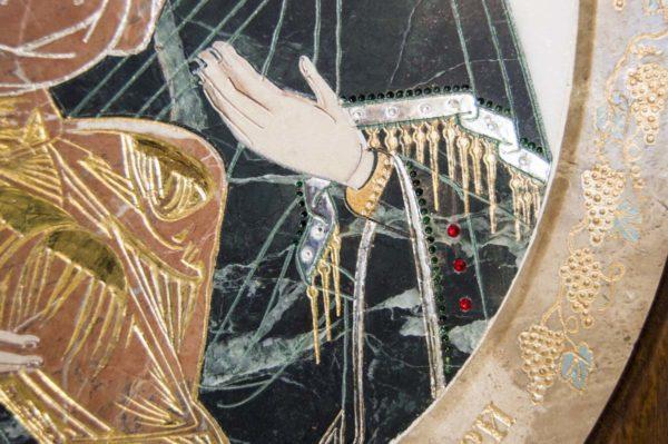 Икона Жировицкой (Жировичской) Божией Матери № п-17 из мрамора, камня, изображение, фото 9