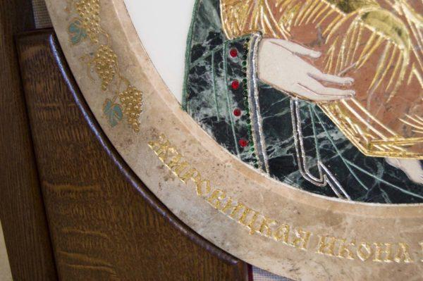 Икона Жировицкой (Жировичской) Божией Матери № п-17 из мрамора, камня, изображение, фото 8