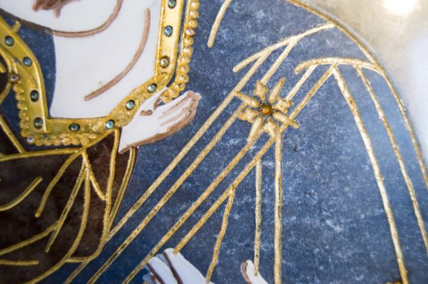 Икона Жировицкой (Жировичской) Божией Матери № п-23 из мрамора, камня, изображение, фото 9