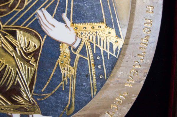 Икона Жировицкой (Жировичской) Божией Матери № п-23 из мрамора, камня, изображение, фото 7