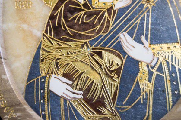 Икона Жировицкой (Жировичской) Божией Матери № п-23 из мрамора, камня, изображение, фото 4