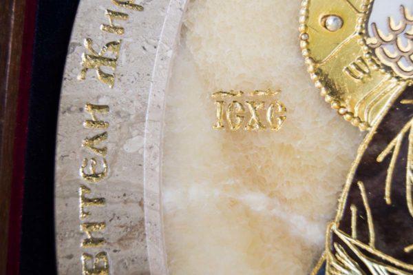 Икона Жировицкой (Жировичской) Божией Матери № п-23 из мрамора, камня, изображение, фото 12