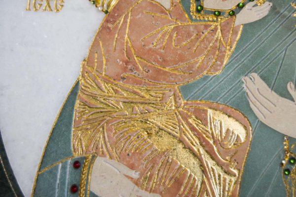 Икона Жировицкой (Жировичской) Божией Матери № п-24 из мрамора, камня, изображение, фото 8