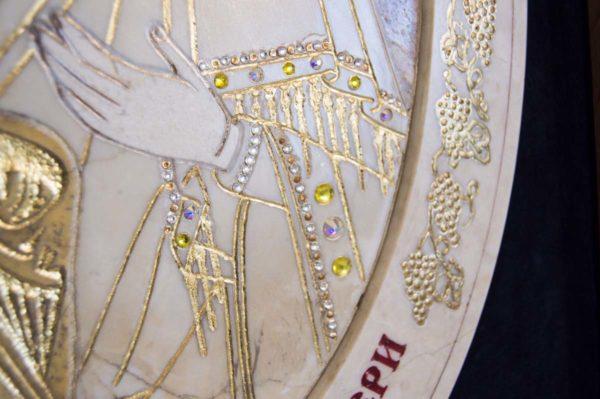 Икона Жировицкой (Жировичской) Божией Матери № п-2 из мрамора, камня, изображение, фото 7