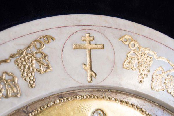 Икона Жировицкой (Жировичской) Божией Матери № п-2 из мрамора, камня, изображение, фото 15